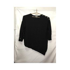 Joseph A Black Asymmetrical Top Size 3X M4
